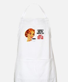 Coffee Kill You BBQ Apron
