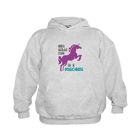 Unicorn Ride Kids Hoodie