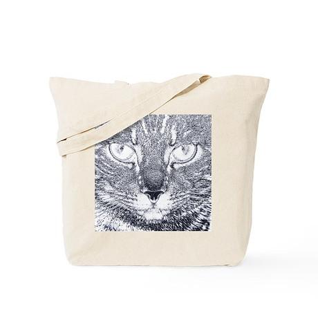 Vigilant Cat (blue) Tote Bag