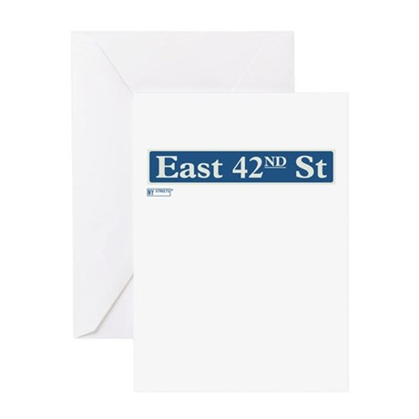 East 42nd Street in NY Greeting Card