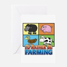 FARMING - Multiple Animals Greeting Card