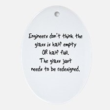 Engineers Glass Oval Ornament