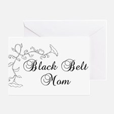 Black Belt Mom Greeting Card