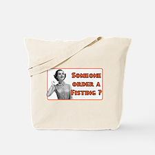 funny fisting retro Tote Bag