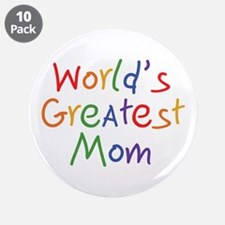 "World's Greatest Mom 3.5"" Button (10 pack)"
