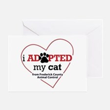 I Adopted My Cat Greeting Card