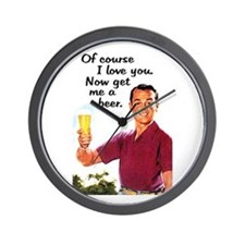 Get Me a Beer Wall Clock