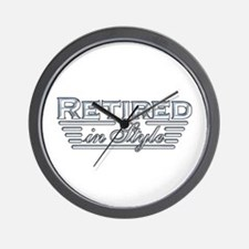 Retired In Style Wall Clock