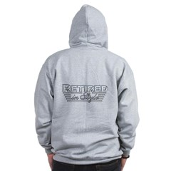 Retired In Style Zip Hoodie