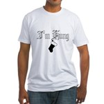 Hung Like a Christmas Stocking Fitted T-Shirt