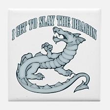 Slay the Dragon Tile Coaster