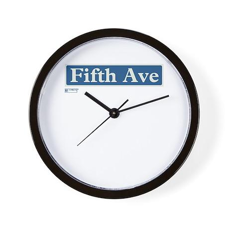5th Avenue in NY Wall Clock