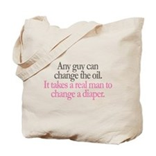 Change Diaper - Pink Tote Bag