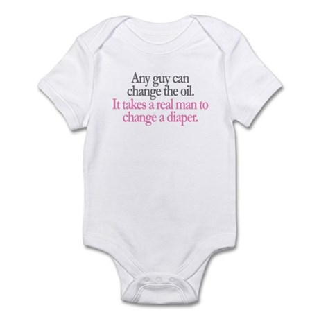 Change Diaper - Pink Infant Bodysuit