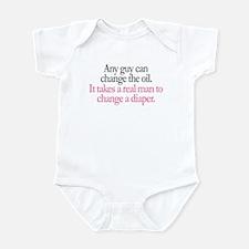 Change Diaper - Pink Infant Bodysuit