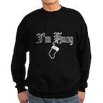 Hung Like a Christmas Stocking Sweatshirt (dark)