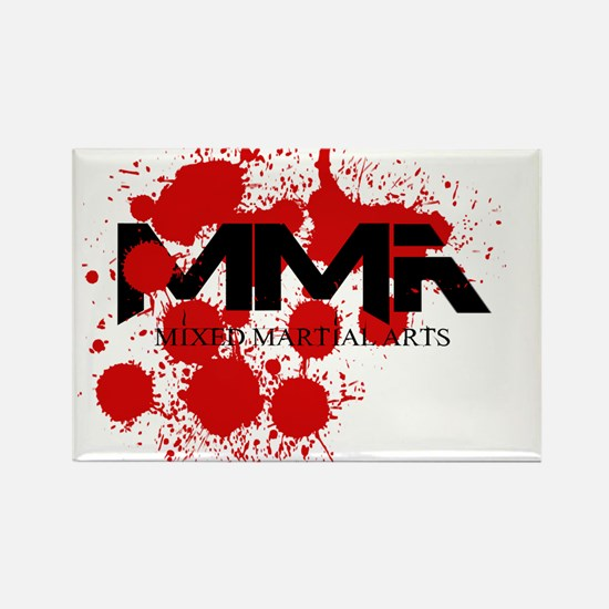 MMA Blood Splatter 01 Rectangle Magnet