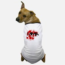 MMA Blood Splatter 01 Dog T-Shirt