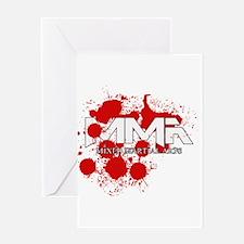 MMA Blood Splatter 02 Greeting Card