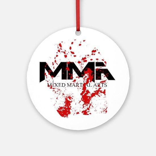 MMA Blood Splatter 05 Ornament (Round)