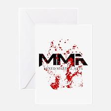 MMA Blood Splatter 05 Greeting Card