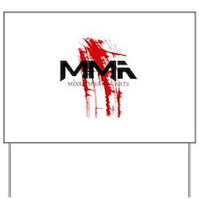MMA Blood Splatter 06 Yard Sign
