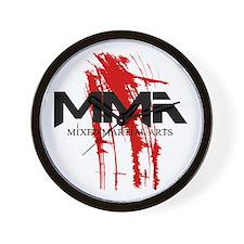 MMA Blood Splatter 06 Wall Clock
