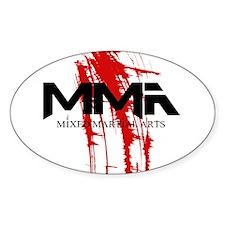 MMA Blood Splatter 06 Oval Decal
