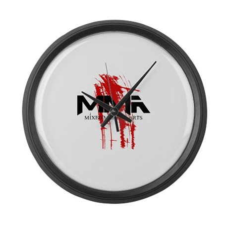 MMA Blood Splatter 06 Large Wall Clock