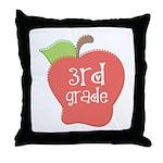 Apple Third Grade Throw Pillow
