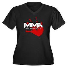 MMA Bloody Handprint 01 Women's Plus Size V-Neck D