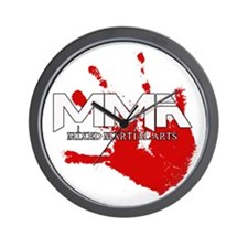 MMA Bloody Handprint 01 Wall Clock