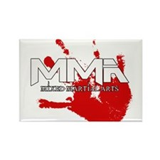 MMA Bloody Handprint 01 Rectangle Magnet