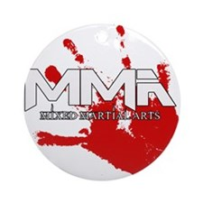 MMA Bloody Handprint 01 Ornament (Round)