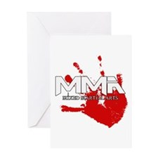 MMA Bloody Handprint 01 Greeting Card