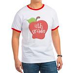 School Apple 4th Grade Ringer T