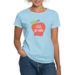 School Apple 4th Grade Women's Light T-Shirt