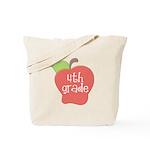 School Apple 4th Grade Tote Bag