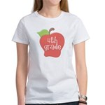School Apple 4th Grade Women's T-Shirt