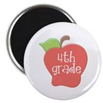 School Apple 4th Grade Magnet