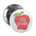 """School Apple 4th Grade 2.25"""" Button"""