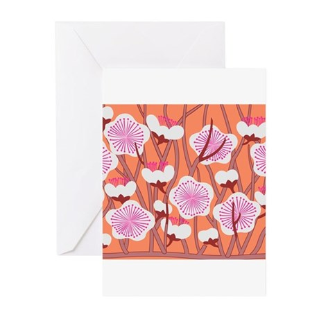 Japanese textile Plum(Ume) Greeting Cards (Pk of 1