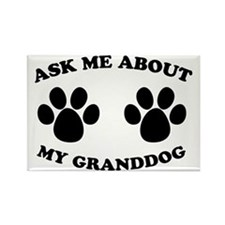 Ask About Granddog Rectangle Magnet