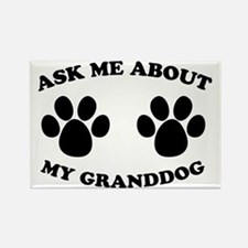 Ask About Granddog Rectangle Magnet (10 pack)