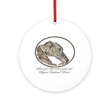 Greyhound Ornament (Round)