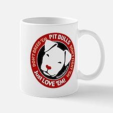 Pit Bulls: Just Love 'Em! Small Small Mug