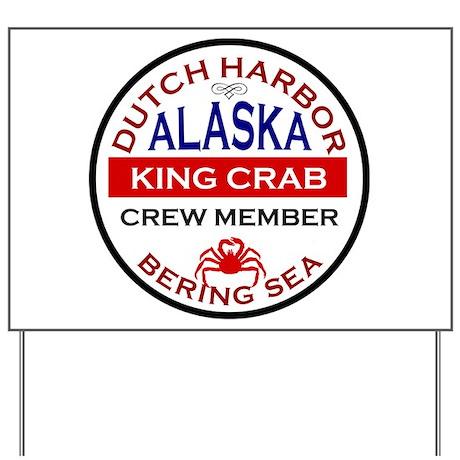 Dutch Harbor Bering Sea Crab Fishing Yard Sign