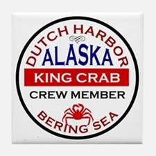 Dutch Harbor Bering Sea Crab Fishing Tile Coaster