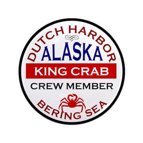"Dutch Harbor Bering Sea Crab Fishing 3.5"" Button"