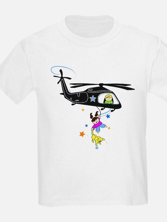 kids black hawk T-Shirt